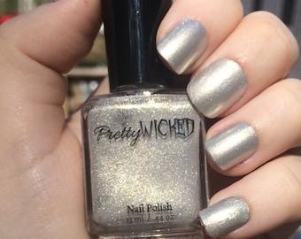 Silver Nail Polish - Winifred Polish - Silver Shimmer Nail Polish - White Silver Nail Polish - Wedding Nail Polish - Silver Nail Polish