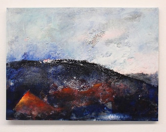 original painting, landscape, wall art, abstract painting, wall hanging,
