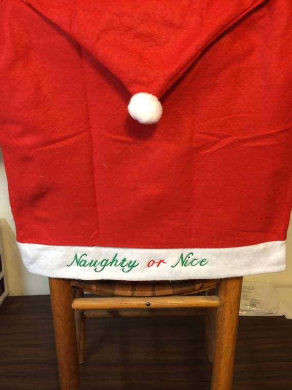Santa Hat Dining room Chair Back Covers