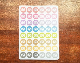 Camera Stickers, Icon Stickers, Blogger Stickers, Marketing Stickers, Happy Planner Stickers, Social Media Stickers, Blogging Stickers