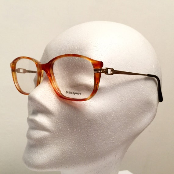 Ysl Glasses Frame : Vintage YSL 80s Eyeglasses Tithon Frames by theblackdolphin