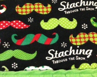 Minky Baby Blanket, Christmas Minky Blanket, Flannel Baby Blanket