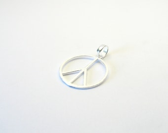 Peace Jewelry pendant Sterling Silver 925 peace