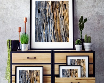 Rustic Weathered Woodgrain, Woodgrain Wall Art, Digital Print Download