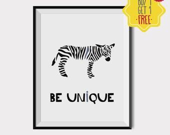 Zebra print, Black and white nursery decor, Cool poster, nursery wall decor boy, playroom printable, nursery quotes,nursery wall art animals
