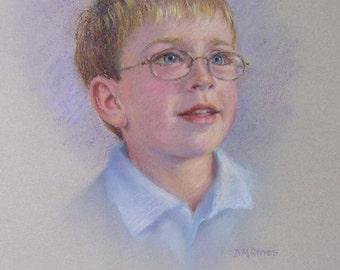 Pastel portrait of child from photograph, Portraiture, Art, Birthday gift