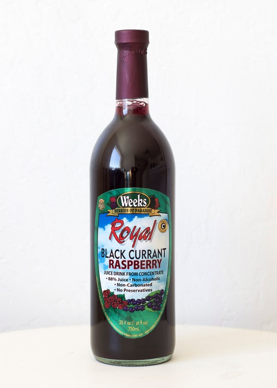 All Natural, Organic, No Preservatives, Royal Black Currant Raspberry Juice, High in Vitamin C, Non-Carbonated - Utah's Own