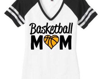 Basketball mom shirt, Basketball mom top, Basketball Heart