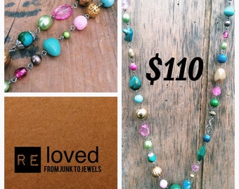 Re-Loved Long Beaded Necklace 029