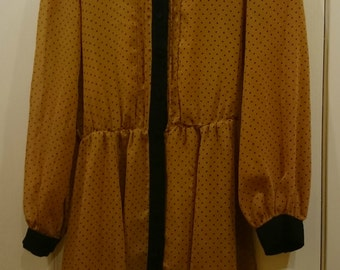 Brown Dotted Vintage Old School Tunic