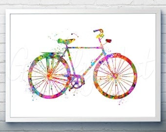 Bicycle Watercolor Art Print  - Watercolor Painting - Bicycle Watercolor Art Painting - Bicycle Poster - Home Decor - House Warming Gift