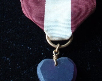 Purple Heart with Ribbon
