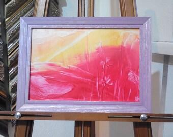 Original Encaustic Painting, Abstract Painting, Framed Art, Home Decor, Encaustic Art