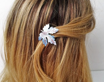 Leaf Hair pin,  Maple Leaf hair pick, blue leaf