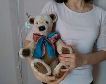 Teddy Bear, Stuffed Toy, Stuffed teddy bear, Handmade toy, Handmade bear, Stuffed animal, Stuffed bear, Soft handmade toy