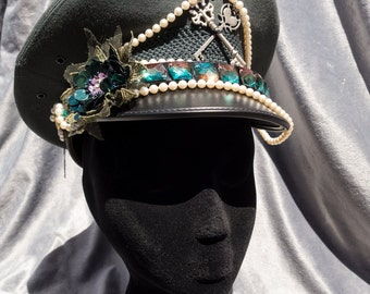 Pearls & Lace Steampunk Pilot's Hat