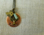 Thankful or Thankful Mom copper and brass charm necklace | copper charm necklace | thankful necklace