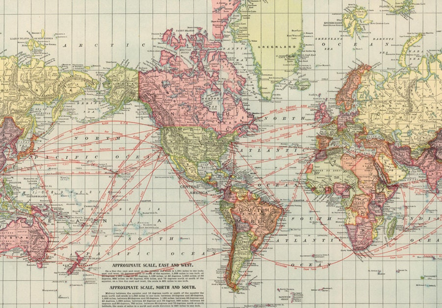 World map printable digital downloadntage world map old zoom gumiabroncs Gallery