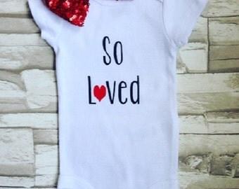 So Loved Baby Onesie Bodysuit