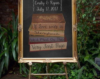 Storybook Love Wedding Sign- If love was a Story Book *PRINTABLE*