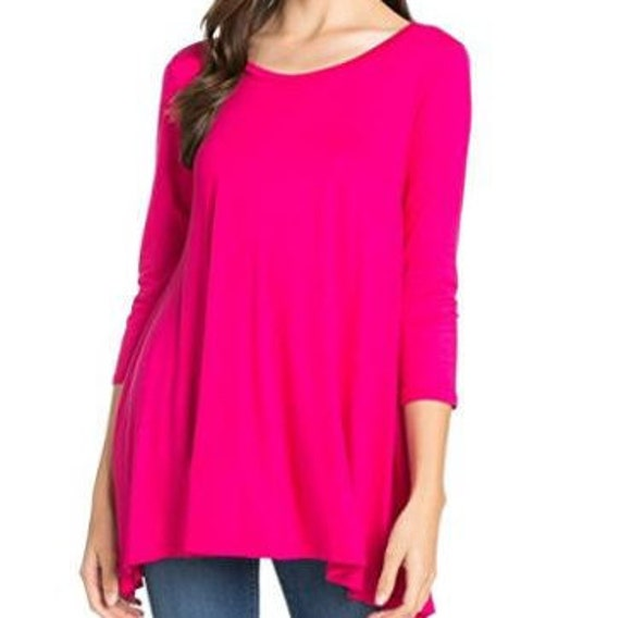 3/4 Sleeve Bamboo Tunic