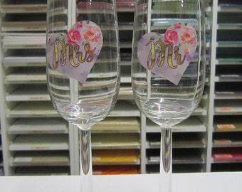 Wedding Toasting Glasses - Mr and Mrs