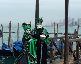 Green and Black female or male costume