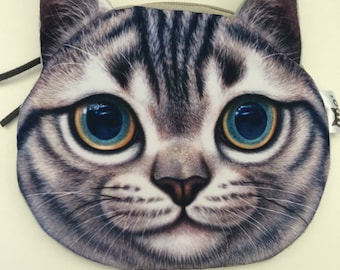 Tabby Cat Zipper Pouch