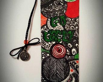 Go Green Handmade Bookmark
