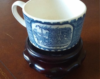 Antique McCoy Teacup - McCoy Pottery USA - Blue and White Teacup - Coffee Cup
