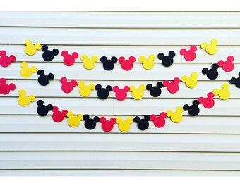 3 Tier Mickey Mouse Birthday Banner | Mickey Mouse 1st Birthday Party Decorations | Mickey Mouse Garland | Mickey Mouse Clubhouse Banner