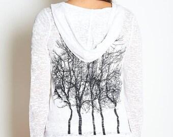 Fairytale Tree Hoodie in White