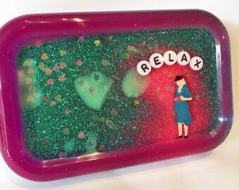 Shower Art: Relax, Bathroom Decor, Shower Decor, Weird Gift, Gag Gift, Novelty Gift, Stocking Stuffer
