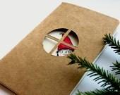 RESERVED - Personalised Christmas journal - custom name notebook for teen, pre teen, or kids gift.