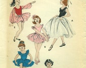 Butterick 7147 Toddler TUTU Ballet DANCE COSTUMES with Pantie Trunks Vintage 1950s