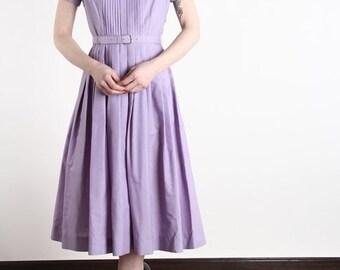 ON SALE Lavender Shirtwaist Dress . Vintage Purple Dress
