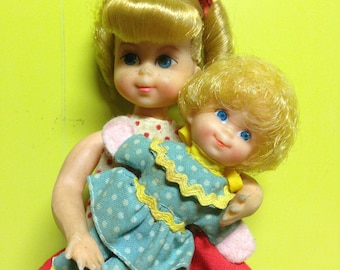 """1960s Buffy Doll with """"Mrs. Beasley"""" Doll"""