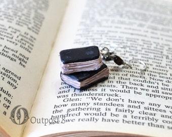 Black Magic Spell Book Earrings