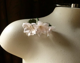 Blush Silk Flowers Vintage Millinery Flowers for Bridal, Boutonnieres