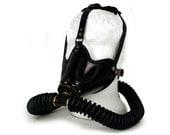STEAMPUNK LEATHER Gas Mask black leather Marauder design