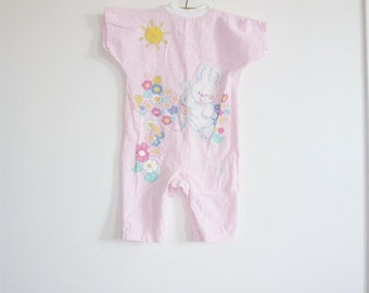 SALE // Vintage Bunny Baby Pajamas