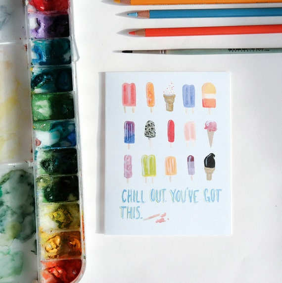 Greeting Card: You've Got This Popsicles