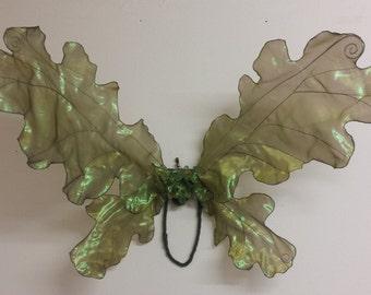 Adult Woodland Green Oak Leaf Fairy Wings