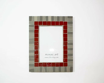 Mosaic Wall Photo Frame | Unique artistic frame | Total size-- 16,5 x 21,5 cm. Photo size--10 x 15 cm