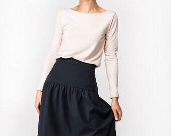 Blue skirt | Designer skirt | Elegant skirt | LeMuse blue skirt