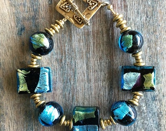 Murano Abstract Bracelet