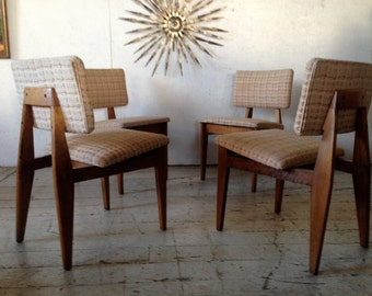 MOD-LOVE SALE!  Dining Chairs 4 George Nelson Herman Miller Dining Chairs - Mid Century Modern Dining Chairs