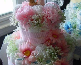 Small 3 Tier Diaper Cake