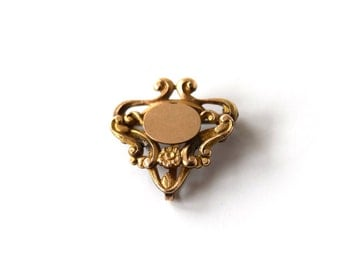Antique Victorian Gold Filled Brooch With Daisy c.1900