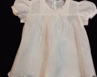 Vintage Infant  Dress  size 6 months - Soft Pale Pink #006